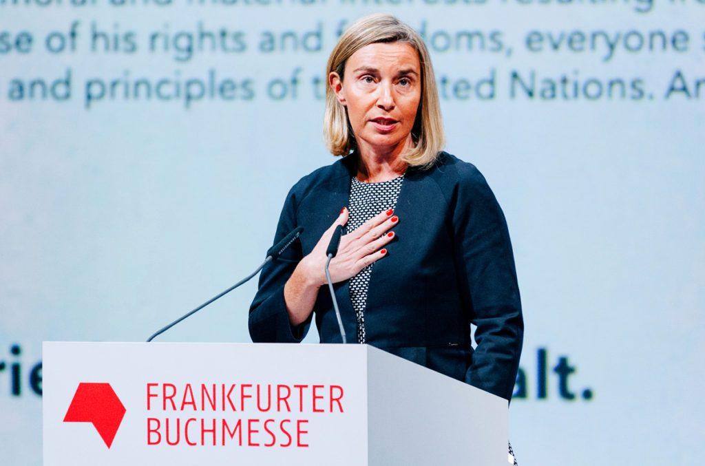 Федерика Могерини среди главных событий 2018 года назвала участие Грузии во Франкфуртской книжной ярмарке