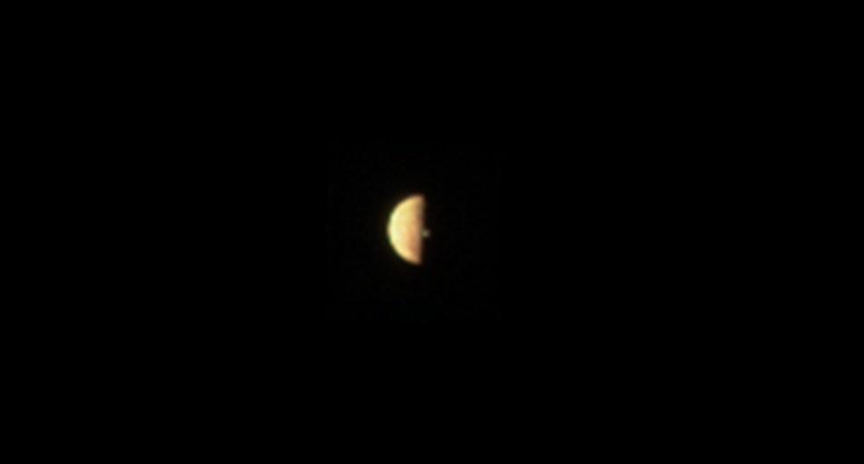 """ხომალდმა """"ჯუნომ"""" იუპიტერის მთვარე იოზე ვულკანური ამოფრქვევის კვამლი გადაიღო"""