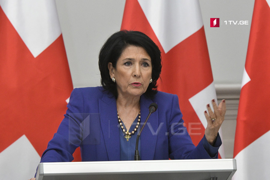 Salome Zurabishvili: President cannot express her position on any judge