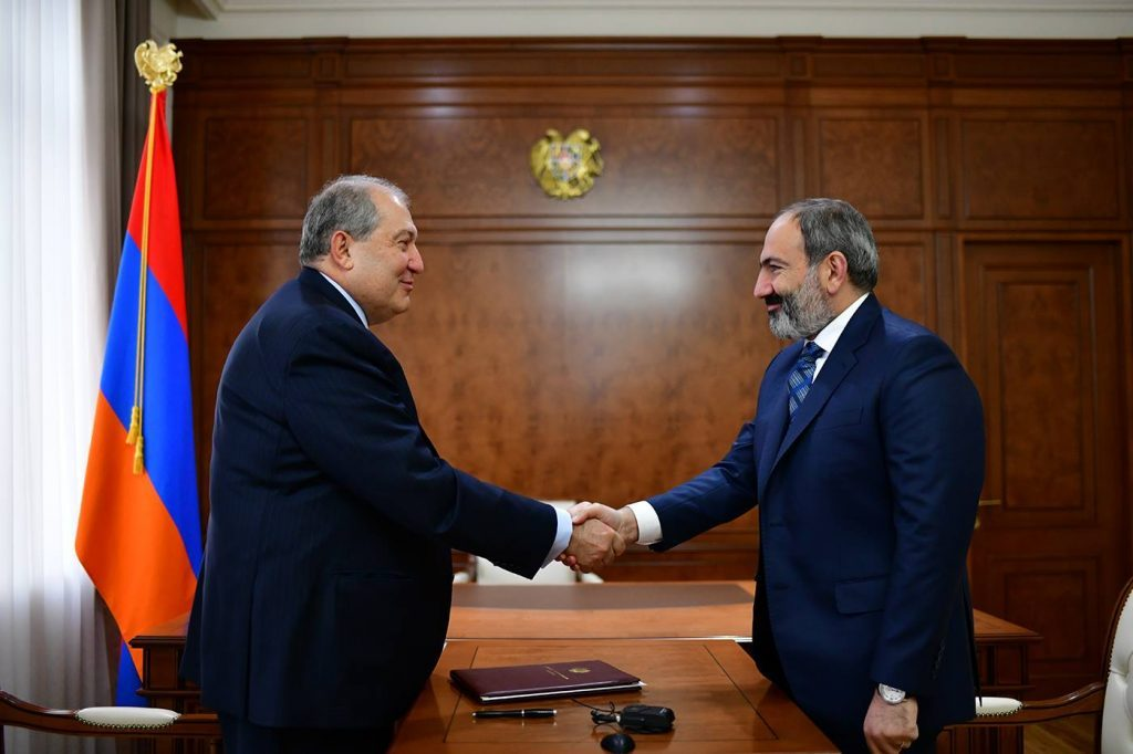 Հայաստանի նախագահը ստորագրել է Նիկոլ Փաշինյանին վարչապետ նշանակելու հրամանագիրը