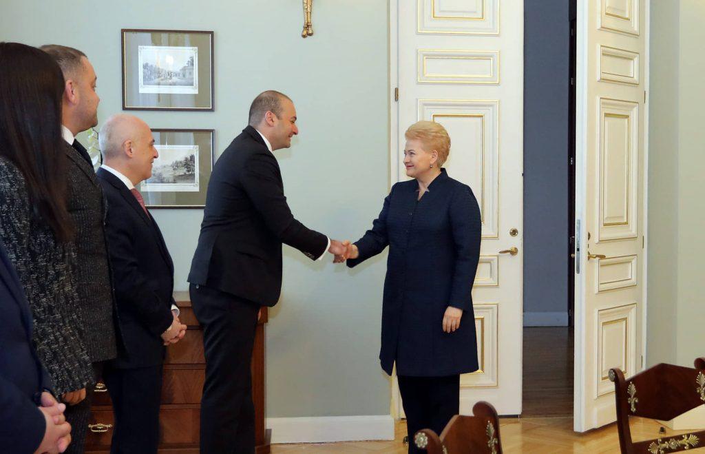 Dalia Grybauskaitė Confirms to Mamuka Bakhtadze Strong Support for Georgia's European and Euro-Atlantic Integration