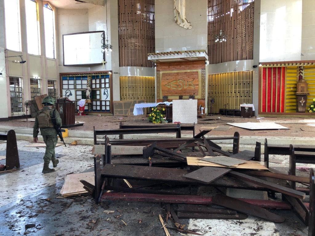 ფილიპინებზე კათოლიკურ ეკლესიაში აფეთქების შედეგად დაშავებულთა რიცხვი 111-მდე გაიზარდა