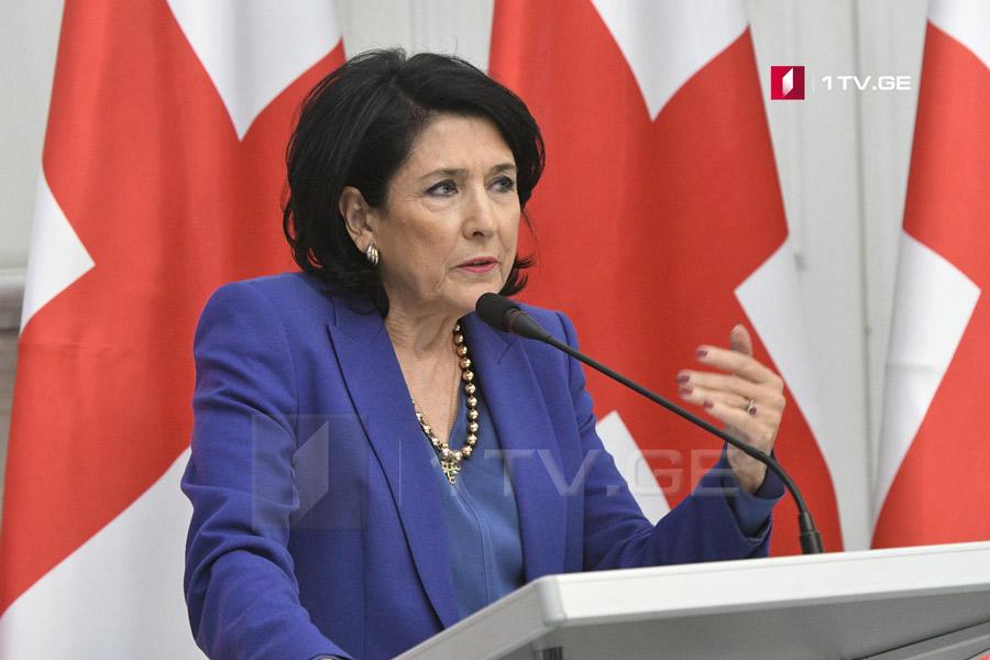 Salome Zurabişvili - Vaşinqtona müraciət etdik ki, Tramp-Putinin görüşünə qədər ABŞ prezidenti ilə, bizim görüşümüz mümkün olsun