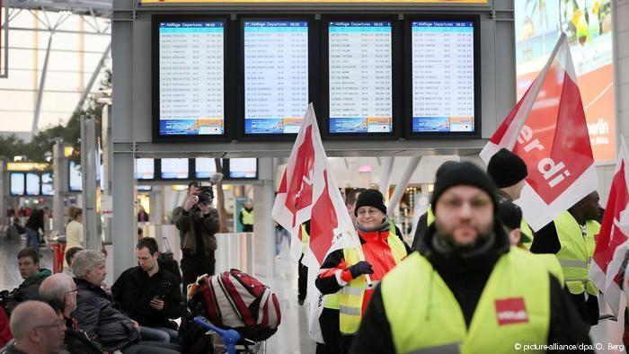 დიუსელდორფისა და ჰანოვერის აეროპორტებში თანამშრომლები გაიფიცნენ
