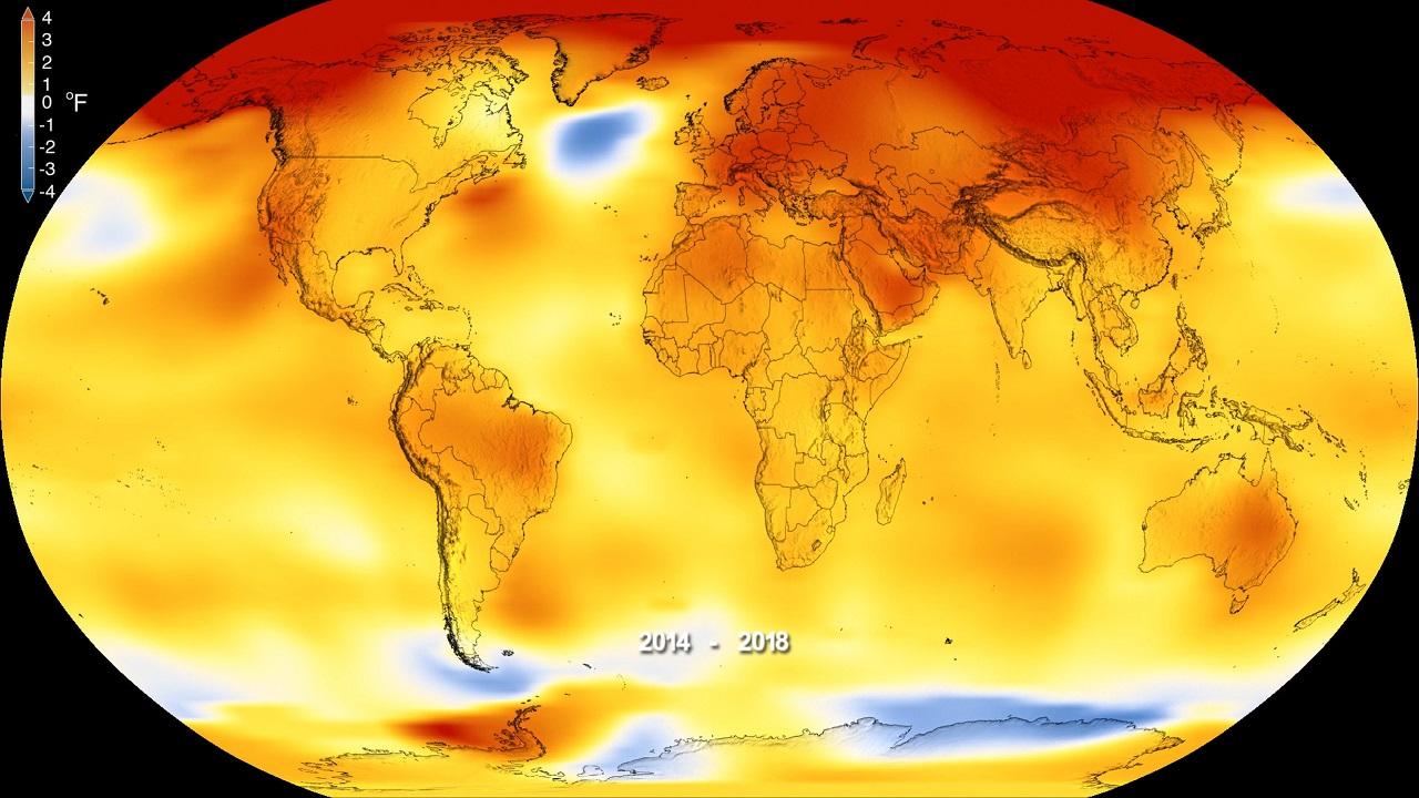 2018 წელი მეოთხე ყველაზე ცხელი წელი იყო კაცობრიობის მეხსიერებაში