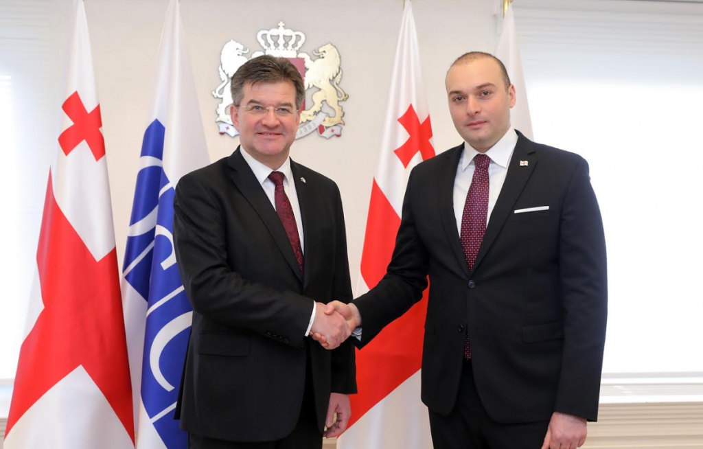 Miroslav Lajčák commends ongoing reforms in Georgia