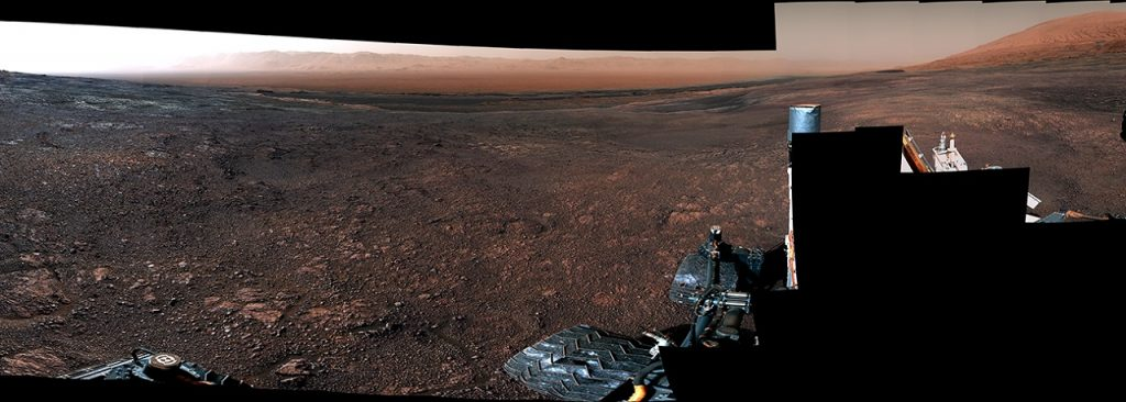 """360° ვიდეო წითელი პლანეტიდან - მარსმავალ """"კურიოზიტის"""" შთამბეჭდავი კადრები"""