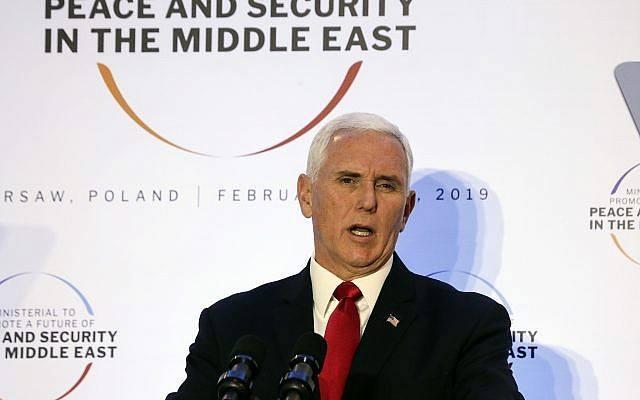 მაიკ პენსი - ირანი ახლო აღმოსავლეთში მშვიდობისა და სტაბილურობისთვის უდიდეს საფრთხეს წარმოადგენს
