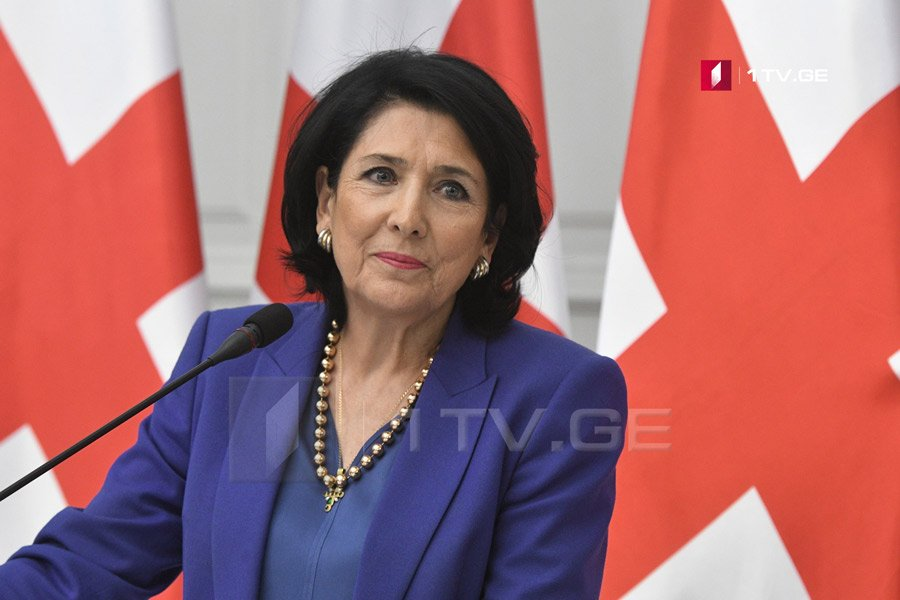 Salome Zurabishvili bakı ile ilgili görsel sonucu