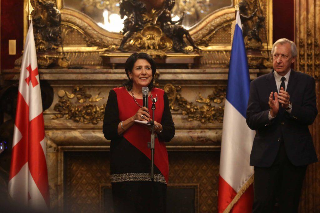 სალომე ზურაბიშვილი იმედს გამოთქვამს, რომ საფრანგეთის მხარდაჭერა საქართველოსადმი იქნება კიდევ უფრო აქტიური