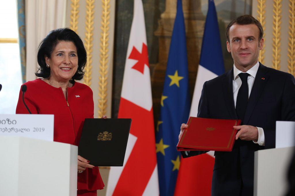 Эммануэль Макрон - Декларацией французско-грузинского диалога имени Дмитрия Амилахвари, мы открываем новую страницу в истории наших отношений