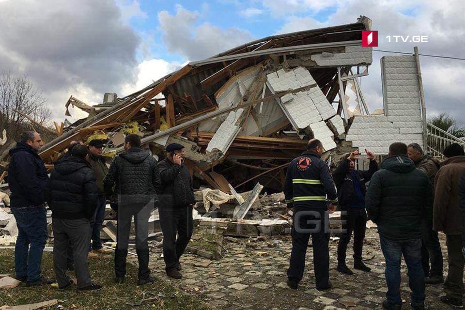 В жилом доме в Самтредиа произошел взрыв