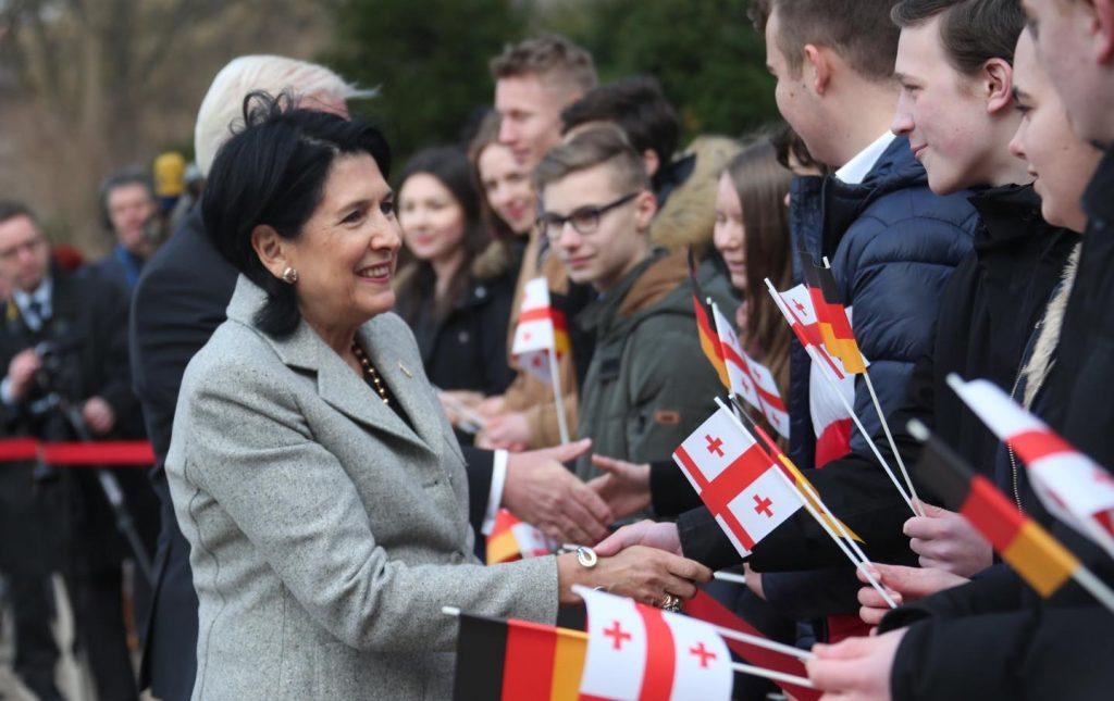 სალომე ზურაბიშვილმა გერმანიის პრეზიდენტთან საქართველოს ევროკავშირში ინტეგრაციის საკითხი განიხილა