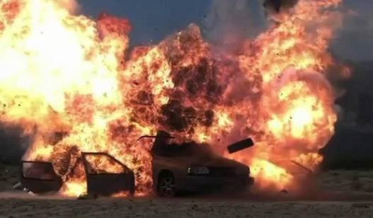 დონეცკში მიკროავტობუსი ნაღმზე აფეთქდა