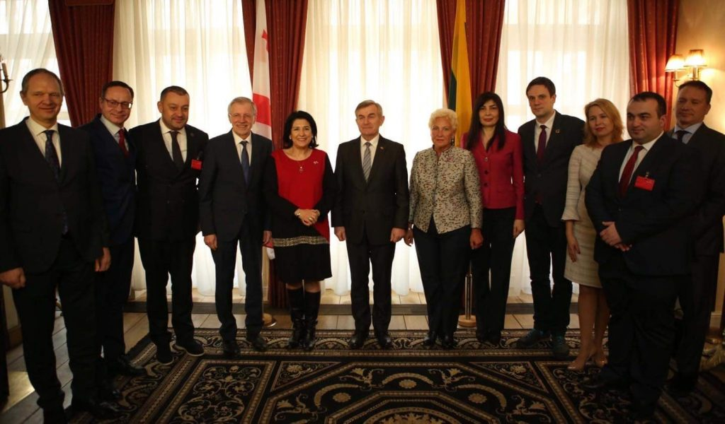 President Zurabishvili met with Speaker of Seimas Viktoras Pranckietis