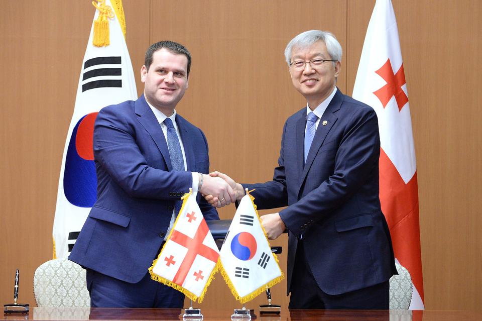 საქართველომ და კორეის რესპუბლიკამ ორმხრივი ეკონომიკური ურთიერთობების განვითარების პაქტს ხელი მოაწერეს