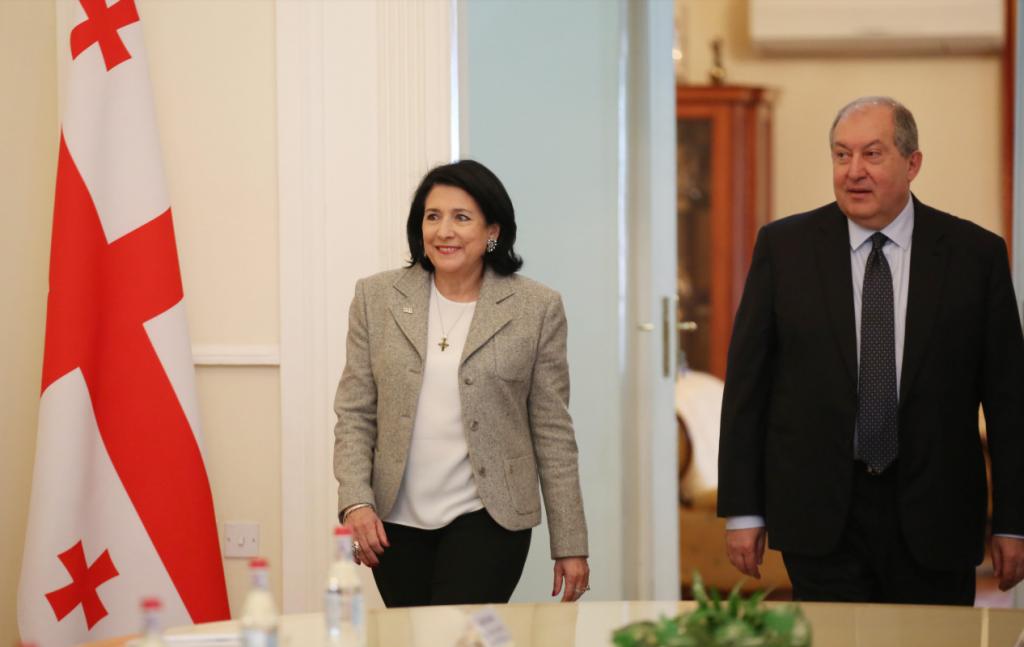 Սալոմե Զուրաբիշվիլին Հայաստանի նախագահի հետ հանդիպման ժամանակ բարձրացրել է Վրաստան-Հայաստան սահմանագծման ակտիվացման հարցը