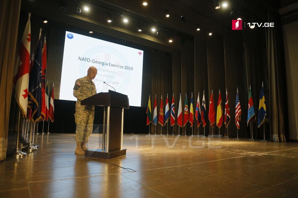 """""""NATO-Gürcüstan təlimləri 2019"""" rəsmi olaraq açıldı (foto)"""