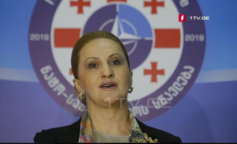 Lela Çikovani - NATO-Gürcüstan təlimi başqa ölkəyə qarşı deyil, müdafiəqabiliyyətinə yönəldilib