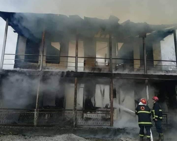75-летний мужчина погиб при пожаре в селе Чвеле в Цаленджиха