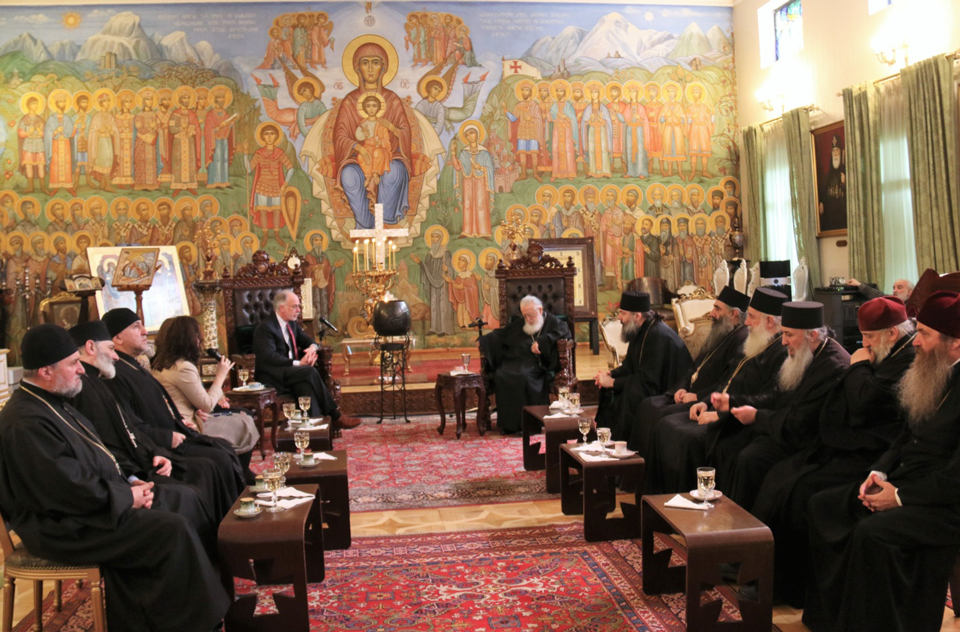 Patriarch hosted Ross Wilson and his spouse at the Patriarchate