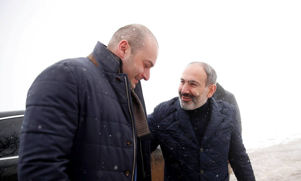 Nikol Pashinyan hosted Mamuka Bakhtadze in Yenokavan