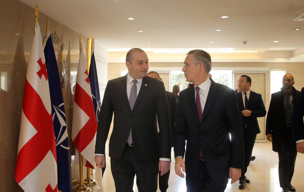 Mamuka Bakhtadze and Jens Stoltenberg Discuss Georgia's Progress toward Euro-Atlantic Integration