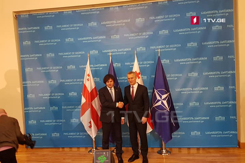 Jens Stoltenberg held a meeting with Irakli Kobakhidze