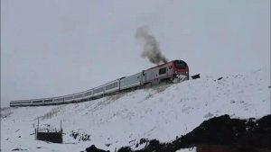 First train enters Georgia through Baku-Tbilisi Kars railroad in test regime (Photo)