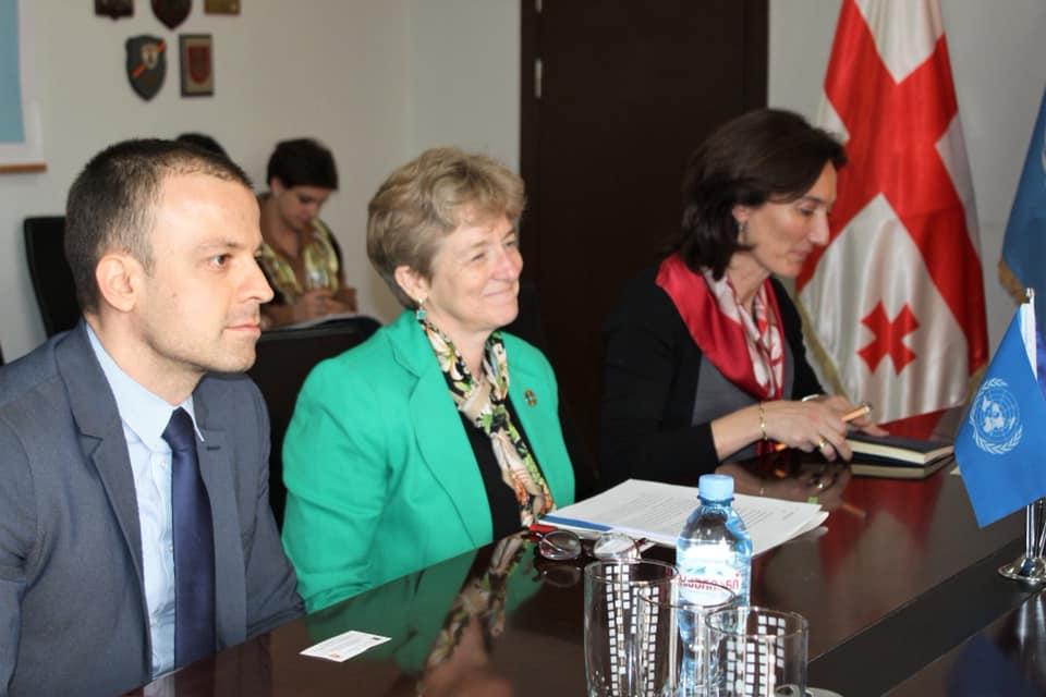 საქართველოში გაერო-ს მუდმივი კოორდინატორი ლუიზა ვინტონი დღეს ფოთს ეწვია