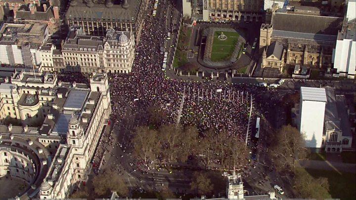 ბრექსიტის მომხრეებმა ლონდონში აქცია გამართეს