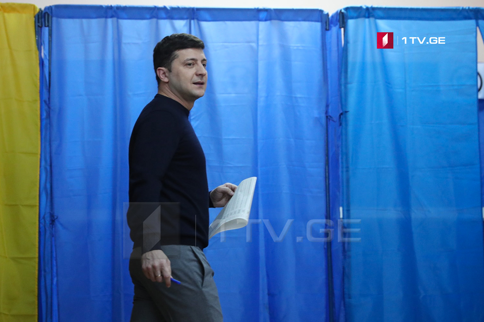 Volodymyr Zelensky is ahead in first round of Ukraine's election