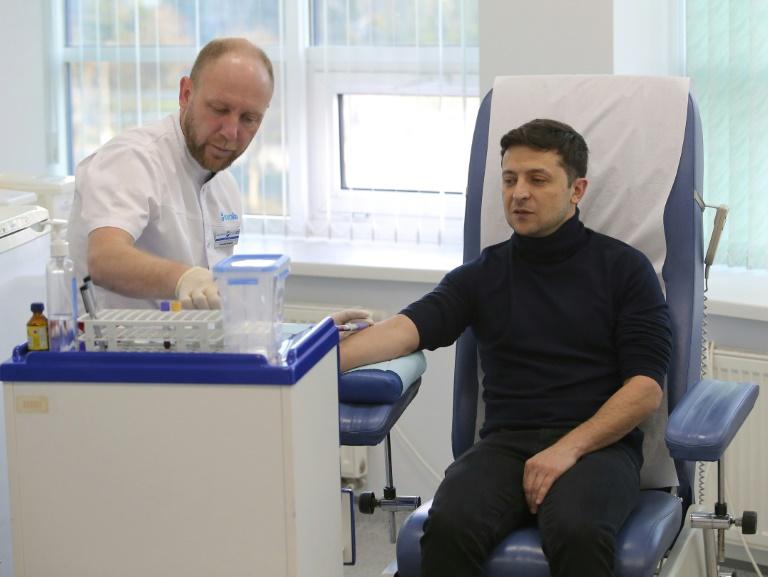 Владимир Зеленский обнародовал результаты анализа крови