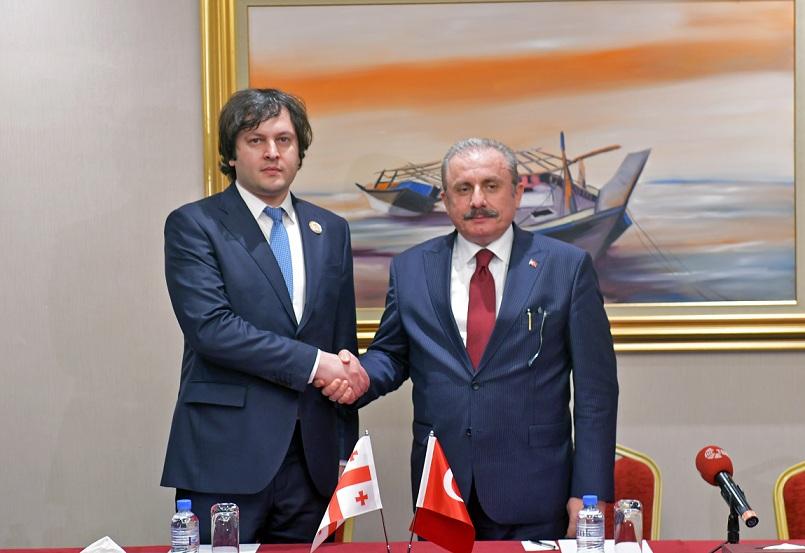 ირაკლი კობახიძე თურქეთის დიდი ეროვნული ასამბლეის თავმჯდომარეს შეხვდა