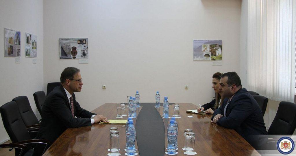 Lasha Darsalia met AmbassadorofGermany
