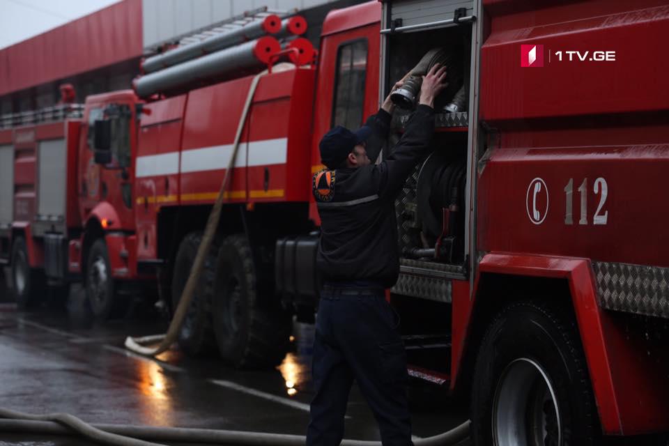 Семь человек пострадали в результате пожара на улице Автомшенебели в Кутаиси