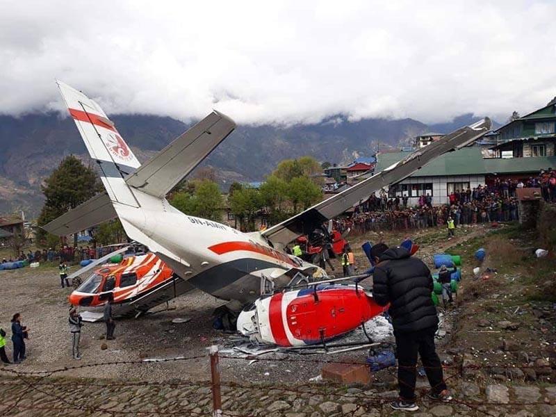 ნეპალში მცირე ზომის სამგზავრო თვითმფრინავი აფრენისას ვერტმფრენს შეეჯახა, დაღუპულია სამი ადამიანი