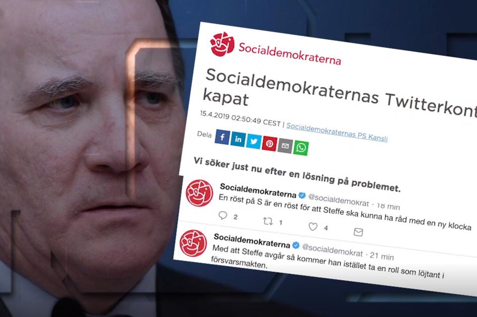 """შვედეთის მმართველი სოციალ-დემოკრატიული პარტიის """"ტვიტერის"""" გვერდზე კიბერთავდასხმა განხორციელდა"""