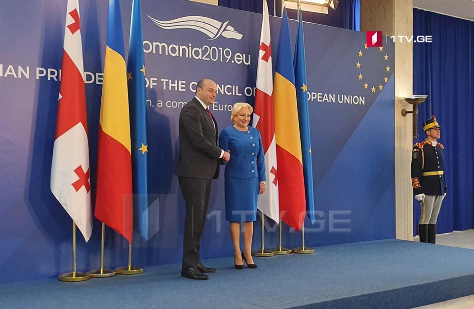 Мамука Бахтадзе встретился с премьер-министром Румынии Василикой Виорикой Дэнчилэ