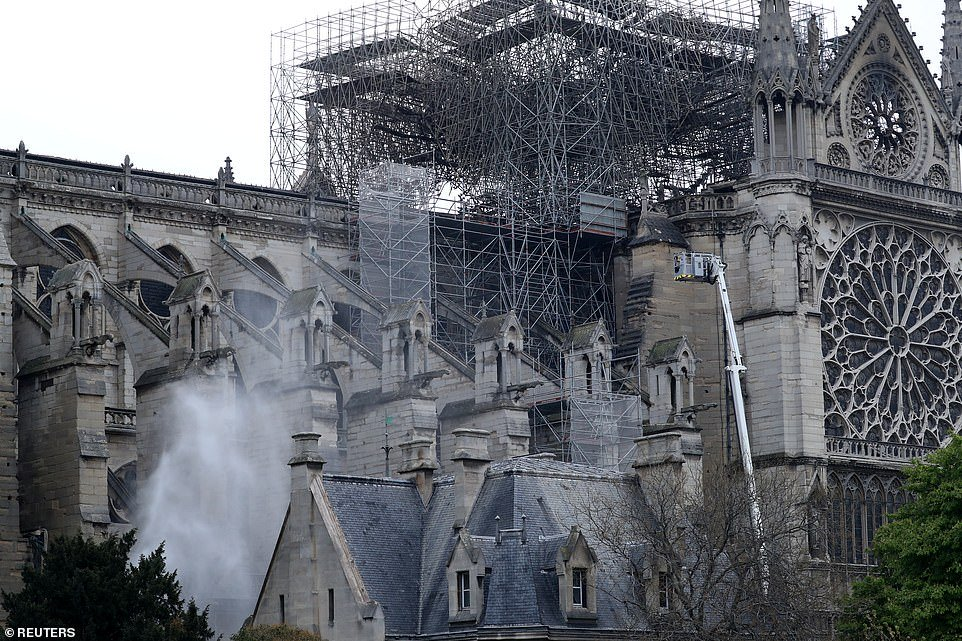 Notre Dame Cathedral after fire (Photo)