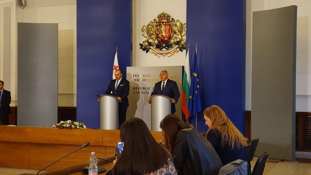 Бойко Борисов – В рамках коммуникации между Болгарией и Грузией по оптическому кабелю мы планируем начать новый проект