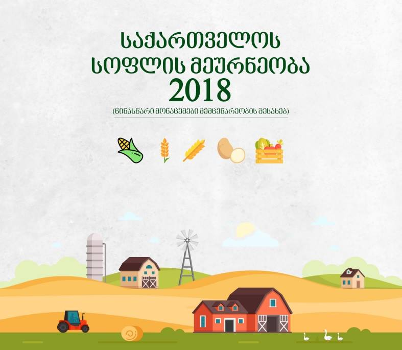 საქართველოში 2018 წელს ხორბლისა და ქერის წარმოება გაიზარდა