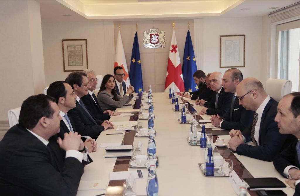 საქართველოს პრემიერ-მინისტრი კვიპროსის პრეზიდენტს შეხვდა