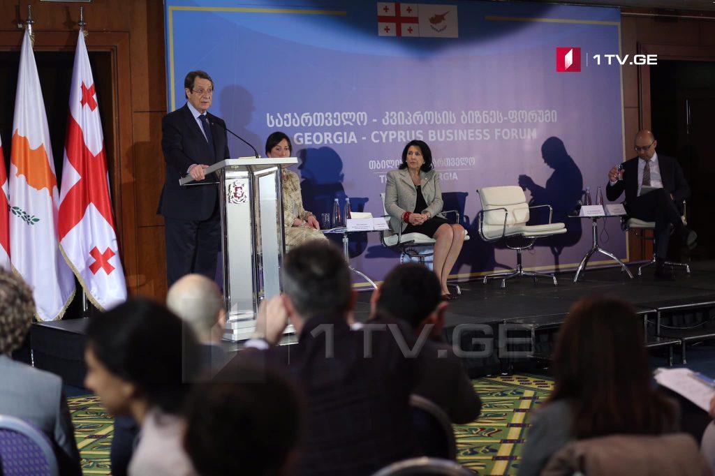 თბილისში საქართველო-კვიპროსის ბიზნესფორუმი მიმდინარეობს