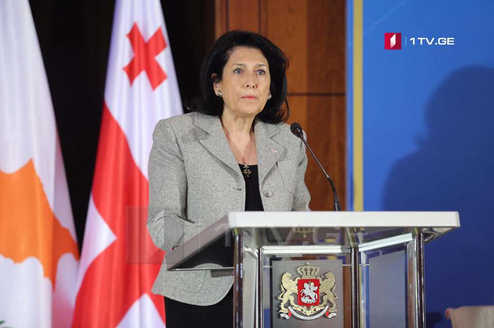 Salome Zurabishvili: Cyprus was a stop for Georgians reaching the Holy Land, today this path opens up a new opportunity for trade and tourism development