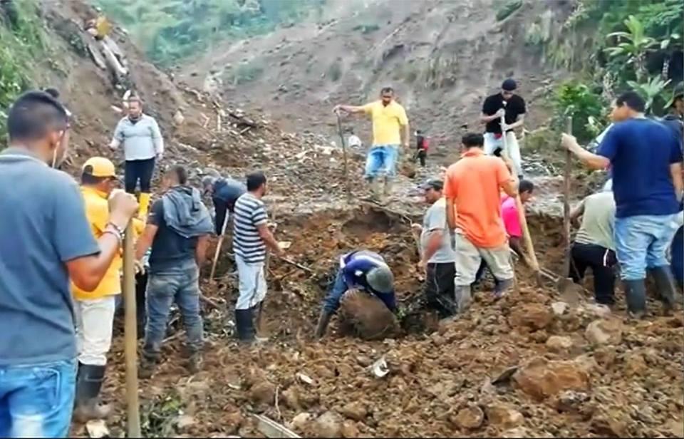 კოლუმბიაში მეწყერის შედეგად 17 ადამიანი დაიღუპა