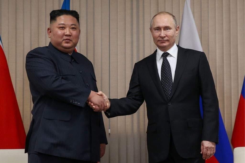 Влaдимир Путин Ким Чен Ын диҧылеит