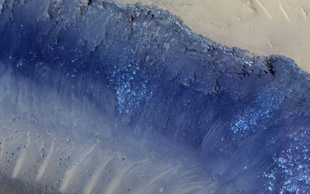 მეწყერი მარსზე - ნასა თვალწარმტაც ფოტოებს აქვეყნებს
