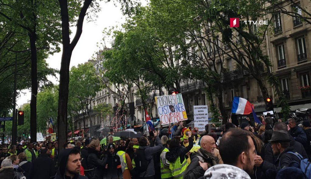 """მედიის ინფორმაციით, """"ყვითელჟილეტიანების"""" დემონსტრაციების გამო, საფრანგეთმა ერთ წელში 2,5 მილიარდი ევრო დაკარგა"""