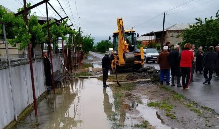 В Лагодехи затопило несколько сел